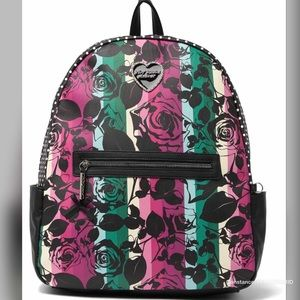 Betsey Johnson Large Printed Backpack Multi color
